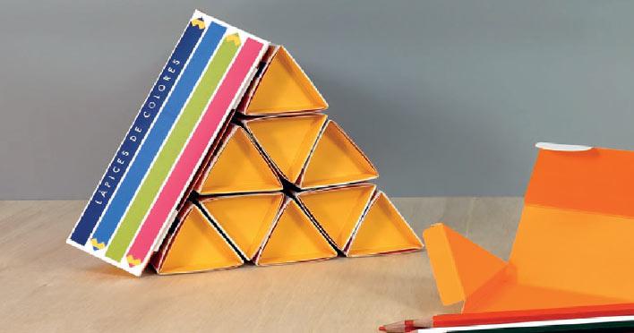 Caja triangular