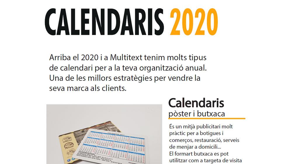 Calendaris 2020